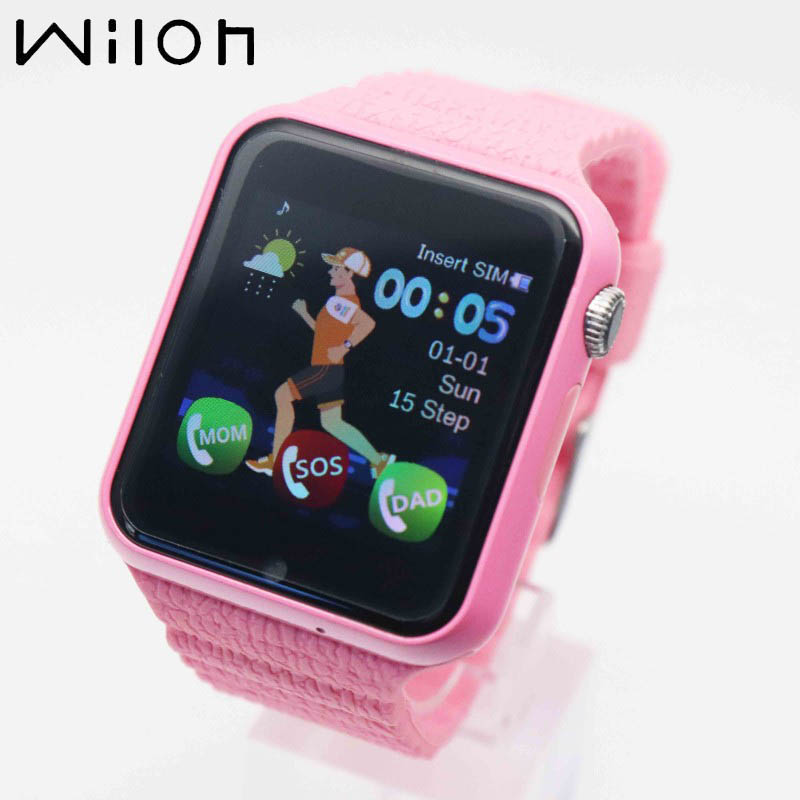 2019 Hot Kids Waterproof Watch Camera SOS Call GPS Tracking Smart Watches Location Device Tracker Children's Clock Pink V7K