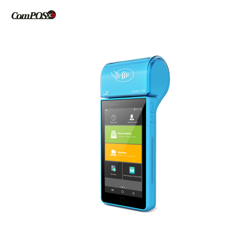 Handheld POS terminal fashion Android pos Payment android handheld scanner nfc camera RFID wifi