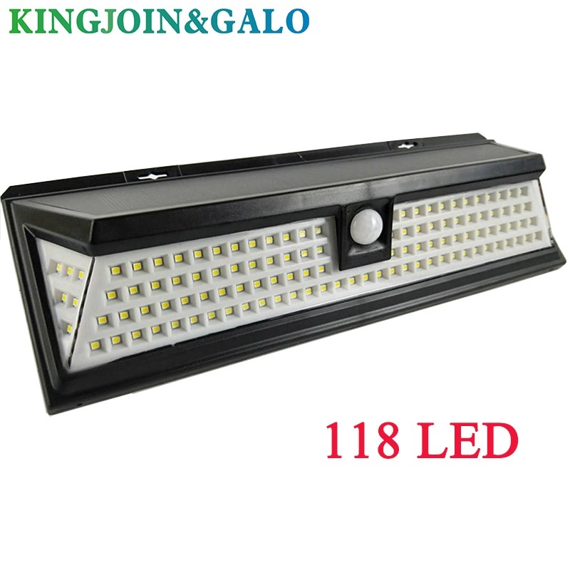 118 LED 1000LM 3 Modes Garden Solar LED Lights Outdoor Solar Lamp Motion Sensor 270 Degree Waterproof IP65 Solar Security Light