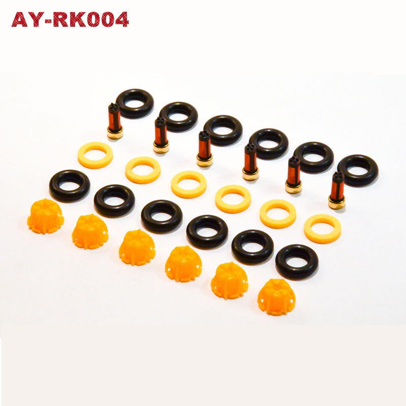 6sets Fuel Injector Repair Kit 0280150440 13641703819 For BMW E60 E39 520i 523i 525i 528i E36 328i  E36 car replacement AY-RK004(China)