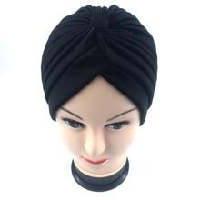 41d3287eaa4 18 color Indian Style Fashion Unisex New Head Wrap Cap women turban indian  caps Cloche Hair