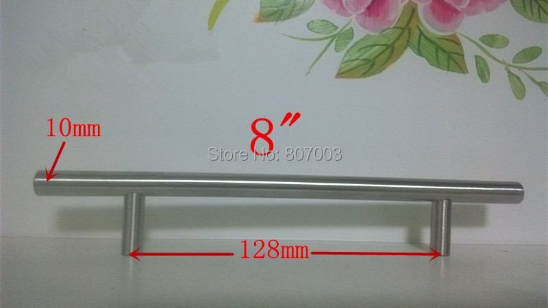 (Diameter 10mm,Length:200mm) 8 Furniture Hardware Kitchen Cabinet Handle, Bar Pull Handle Stainless Steel T Handles 1 pair 4 inch stainless steel door hinges wood doors cabinet drawer box interior hinge furniture hardware accessories m25