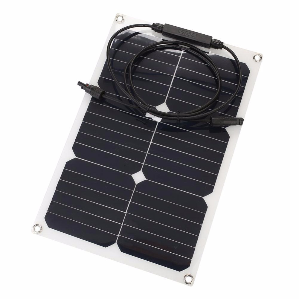 Cewaal 18v 20w Car Smart Solar Power Panel Rv Boat Battery Charger W Alligator Clip Outdoor Travelling Powerbank Supply In Cells From Consumer