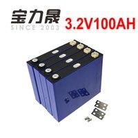 4 pçs/lote 3.2 v 100ah bateria de iões de lítio lifepo4 12v100ah não 120ah para back up fornecimento de células de íons de lítio elétrica carro motocicleta