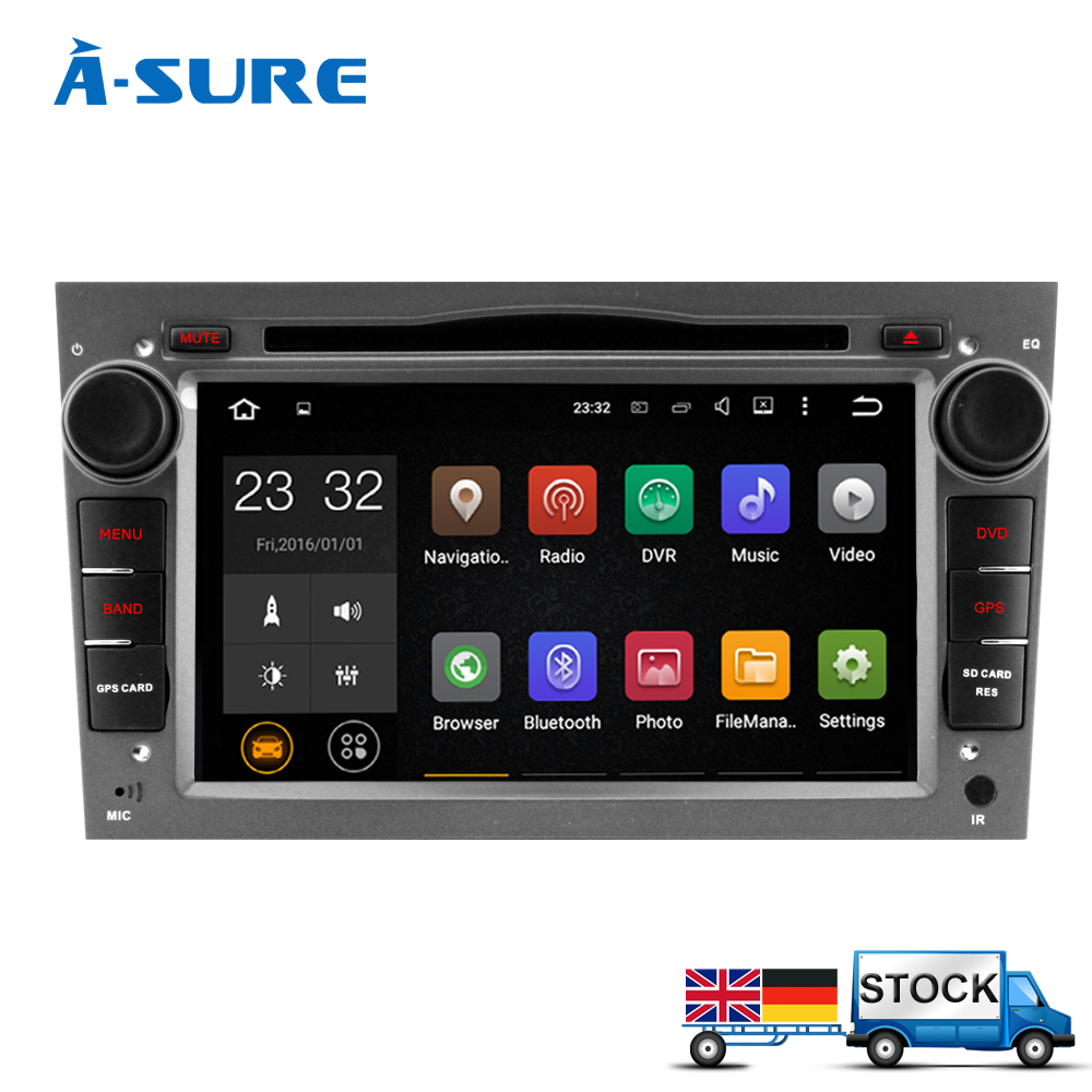 a sure android 7 1 quad core 2 din car dvd player for opel. Black Bedroom Furniture Sets. Home Design Ideas