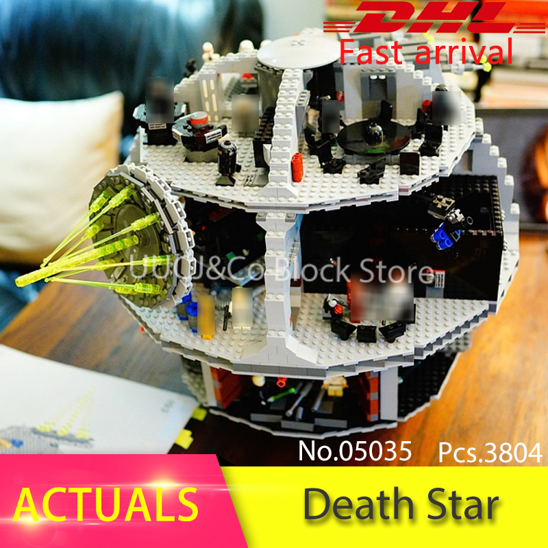LEPIN 05035 3804Pcs Death Star II Model Building Blocks Set Bricks Educational Toys For Children Gift  Educational toys 10188 clone 10188 dhl lepin 05035 3803pcs star model death star model building kit set blocks bricks children toy gift