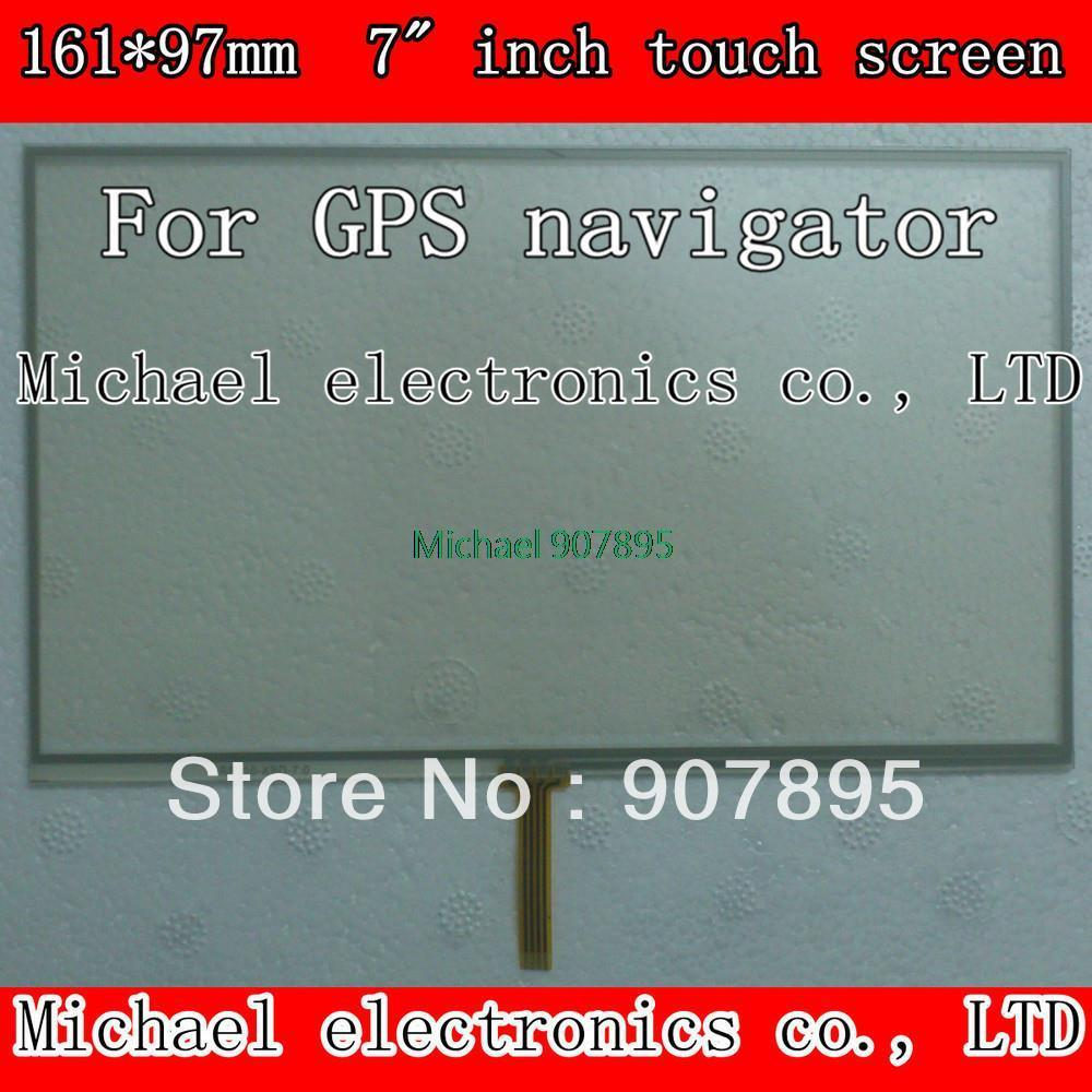 Lowest $3.5 7 7INCH Navigation 4-wire welding resistive touch screen 161X97mm Suitable for all 7inch GPS navigation device
