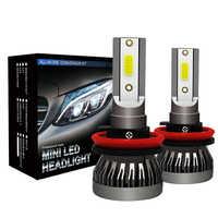 2X Auto del faro Mini Lampada H7 HA CONDOTTO Le Lampadine H1 LED H7 H8 H11 Fari 9005 HB3 9006 HB4 Per Auto 12 V HA CONDOTTO LA Lampada 36 W 8000LM FANLESS