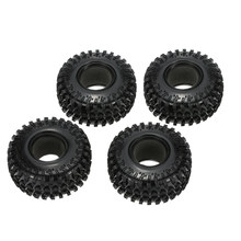 "4Pcs 2.2"" 125mm RC Car 1/10 Scale Rubber RC Tires Wheel for 1:10 RC4WD D90 Axial SCX10 SUV Vehicles RC Rock Crawler Car Parts(China)"