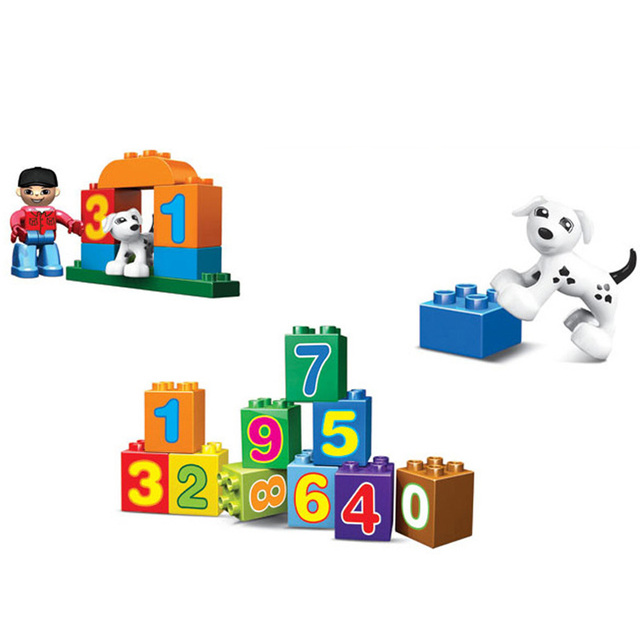 Learning Education Toys For Children Digital Jigsaw Number Train Crafts Building Blocks For Kids With Original Box
