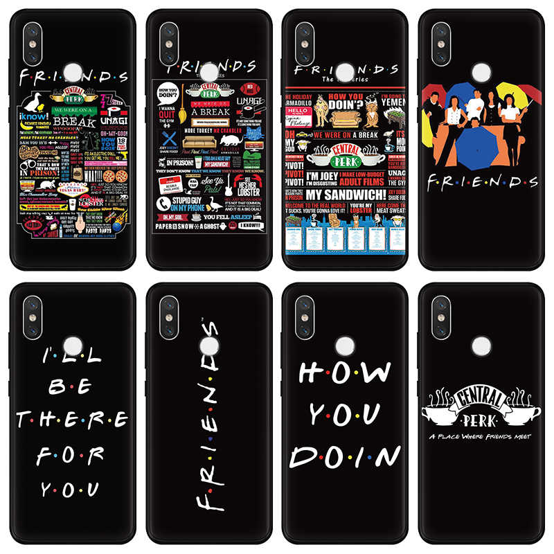 Central Perk Coffee friend tv show how you doin Black For Xiaomi Redmi Note 5 Plus 6 3 3S Pro 4A 4X 5A 6A 3 4 Case for Redmi S2