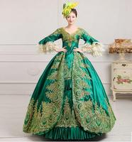 Newest Gothic Victorian evening dress vestido de festa longo royal court palace Christmas costumes customize for nay size