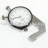0,1mm precisión espesor Dial Gauge Gage herramienta de medición 0 a 10mm dos tonos
