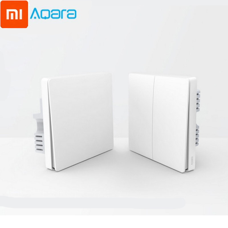 Xiaomi Aqara Smart Wall Switch Control Light Wireless Switch Zigbee No Neutral Zero Fire Line Single Fire Wire Smart Remote Ligh title=