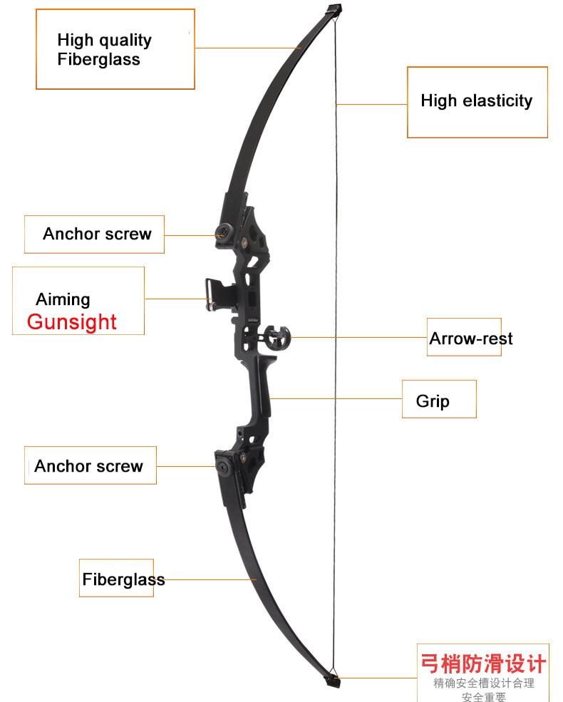Arc classique professionnel 30-45 lbs puissant tir à l'arc de chasse flèche chasse en plein air tir pêche - 5