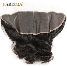 Loose Wave Ear To Ear Lace Frontal 13×4 Remy Hair 100% Human Hair Free Part Natural Color 10″-18″Inch Free Shipping