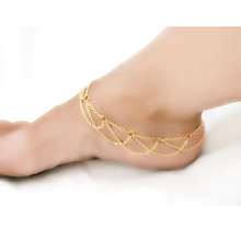 Elegant Multi Chain Tassel Double Layer Chain Toe Link Foot Jewelry Anklet Beach Chain