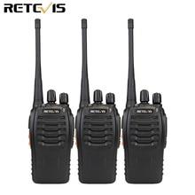 3 шт рация Retevis H777 16CH UHF 400-470 Любительское радио МГц HF трансивер 2 способ радио Communicator удобный A9104