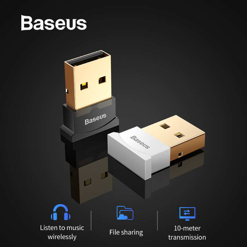 Baseus USB <font><b>Bluetooth</b></font> Adapter Dongle <font><b>4.0</b></font> for PC AUX Music PS4 Computer <font><b>Bluetooth</b></font> <font><b>Receiver</b></font> Transmitter Adapter for Speaker Mouse image