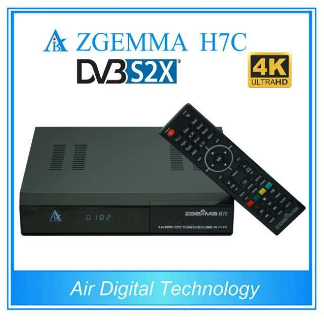 US $489 0 |2pcs/lot New 4K UHD Kodi TV Box ZGEMMA H7C Ci+ Conax QTStalker  Ultra CPU Multistream HEVC/H 265 DVB S2X+2*DVB T2/C Triple Tuners-in