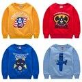 De dibujos animados 2 6 8 Bebé Niños Niñas Niños Coat Chaqueta Con Capucha Sweater Pullover Outwear