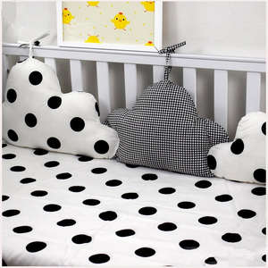 3 Pieces Linked Clouds Shape Baby Bed Bumpers Newborns Crib Protector Baby Bedding Set In Cot Kids Room Decor Pillows for Crib