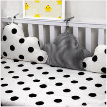 3 Pieces Linked Clouds Shape Baby Bed Bumpers Newborns Crib Protector Baby Bedding Set In Cot Kids Room Decor Pillows for Crib(China)