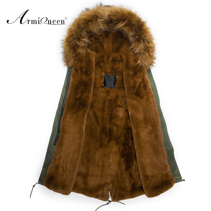 men faux rabbit fur long coat Overcoat Coat Thick Hoodie Jacket Faux Fur Zipper Outwear