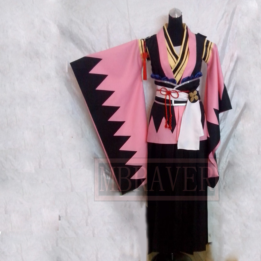 Japanese Anime hakuouki cosplay Samurai clothing Yukimura Jiziru Cosplay Costumes Any Size
