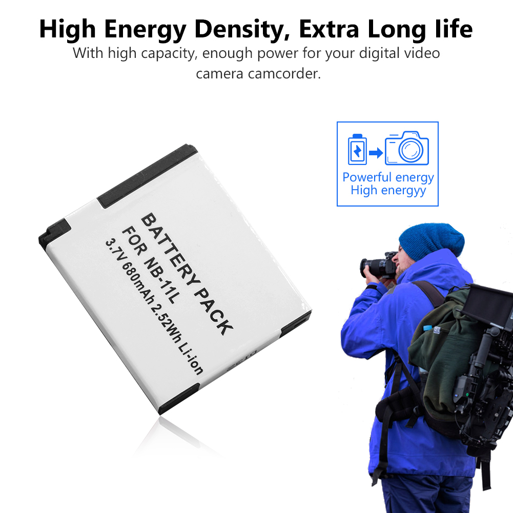 2pcs camera battery NB-11L NB-11LH 3 7V li ion camera battery pack for  CANON SX430 IXUS265 A2600 A2300 IS/A2400 IS/A2500 A3400IS