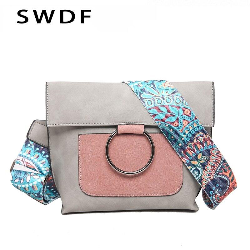 SWDF 2020 New Luxury handbags women bags designer crossbody bags fashion Rivet shoulder bags Embroidered women messenger bags