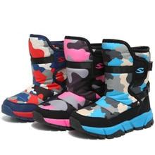 -30 degree Russia winter 2018 children shoes rubber boots Girls Boots Waterproof Snow wear Warm Winter Shoes Kids boys