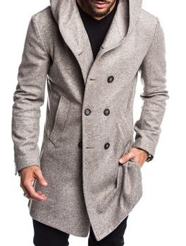 Zoga 2019 أزياء رجالي خندق معطف سترة ربيع الخريف الرجال معاطف عارضة بلون الصوفية خندق معطف للرجال الملابس 1