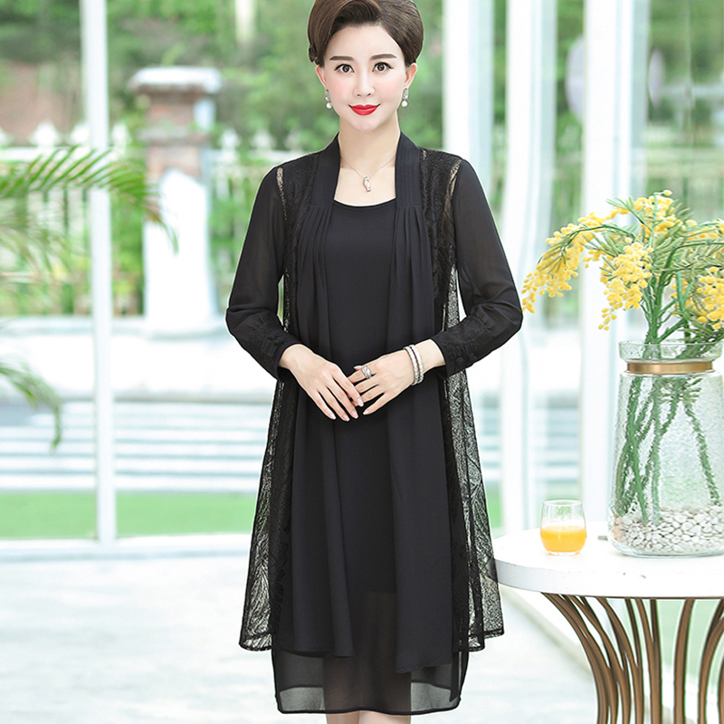 Summer Women Floral Print Two Piece Dresses Casual O Neck Long Sleeve Party Dress Robe Femme Plus Size 5XL in Dresses from Women 39 s Clothing