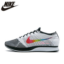 8edc47df0296 Nike Flyknit Racer Be True Men s Breathable New Arrival Authentic Running  Shoes Sports Sneakers 902366-100