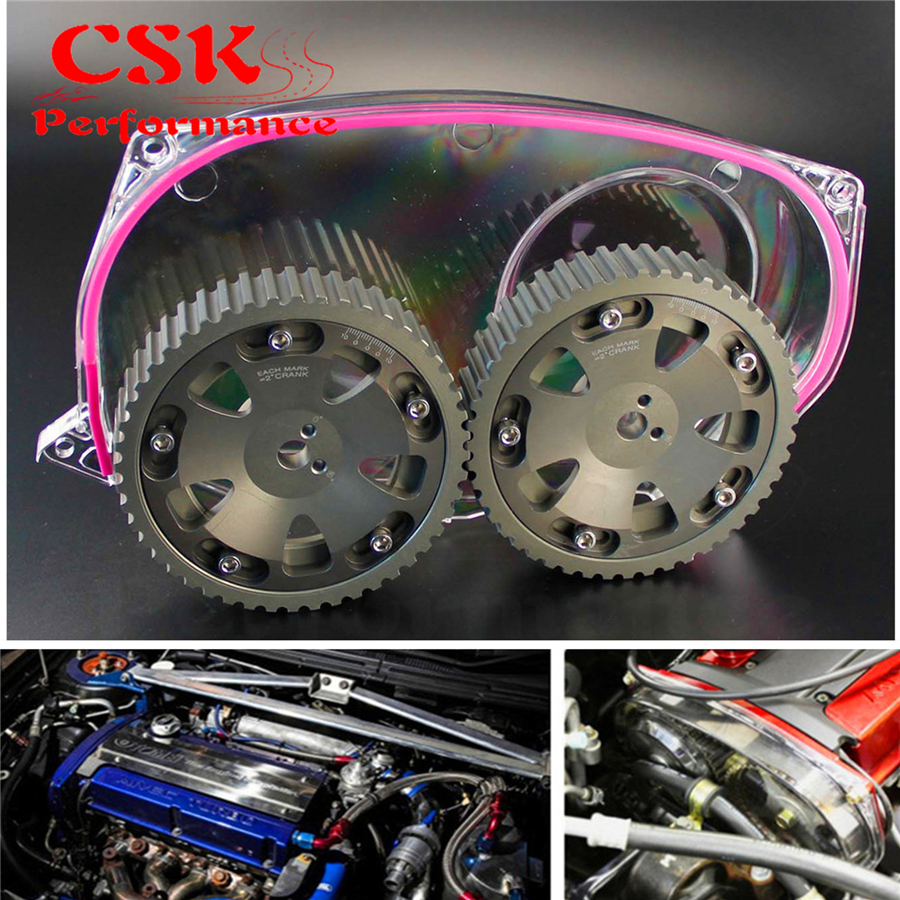 Buy Clear Timing Belt Cover Cam Pulley Gear Fits Ej20k Jdm Pulleys For Mitsubishi Lancer Evo 9 Ix 4g63 From Reliable Suppliers On