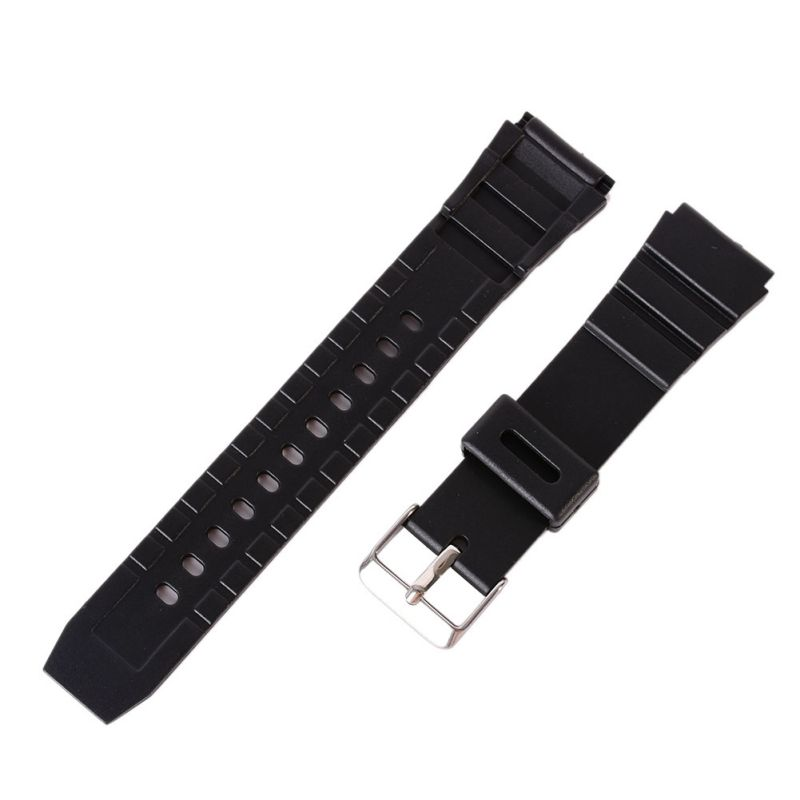 Silicone Rubber Diving Strap Replacement Sport Wrist Watch Band Strap Deployant Clasp Buckle Leather 12-22mm