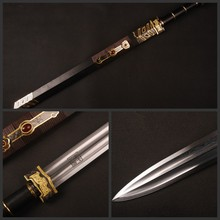"Details about Fully Handmade Knife Folded Steel Chinese ""Ru yi"" Sword Vintage Home Decoration"