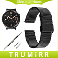 18mm milanese correa + liberación rápida pin para huawei watch/fit honor s1 banda correa de acero inoxidable correa de muñeca pulsera de metal