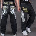 Hombre de hip hop skateboard jeans hombres jeans holgados mezclilla estilo de la calle hiphop pantalones vaqueros flojos rap 4 estaciones pantalones tamaño grande 30-44