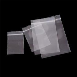 100 шт. толстые прозрачные Ziplock Zip Сжатые Блокировка Reclosable Пластик малого Zip-Lock Пластик сумки поли ювелирные изделия Упаковочные пакеты