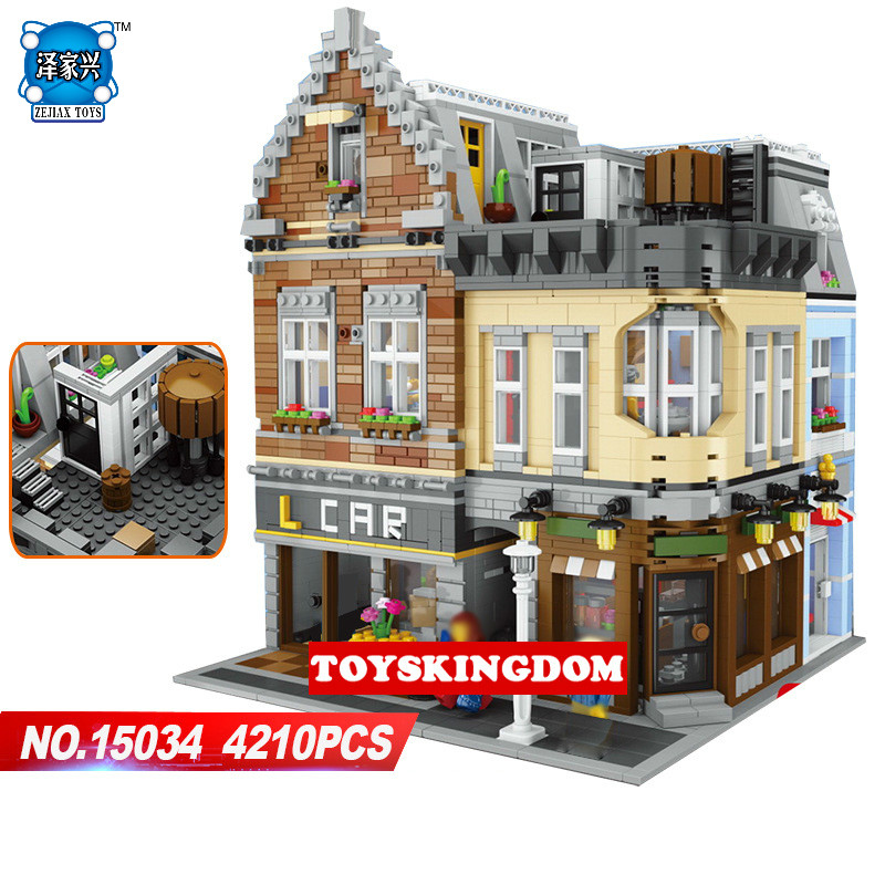 Hot Moc Lepins Building Block  Creators City Street View Dream Entrepreneurship StudioModel Bricks Toys Collection for Kids Gift hot city series aviation private aircraft lepins building block crew passenger figures airplane cars bricks toys for kids gifts