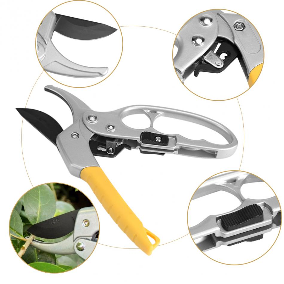WALFRONT Gardening Scissor made of High Carbon Steel for Grass Trimming and Easy Plant Cutting 12