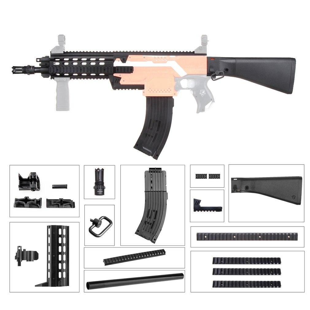 Jouets cadeaux légers pour les joueurs de jeu Mod étendre les Kits de Stock d'épaule de baril Combo 16 articles pour Nerf STRYFE bricolage pièces de pistolets jouets