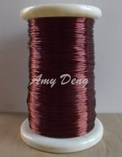 100 м/лот полиэфирная краска, провод 1,0 мм, эмалированный круглый медный провод