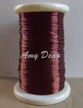 Alambre de cobre redondo esmaltado, pintura de poliéster, QZ 2 130, alambre de 100mm, 1,0 metros/lote