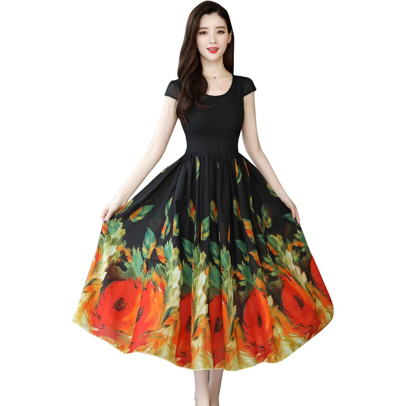 Us 522 32 Offeurope America Vest Dresses Printing Halter Vestido Sleeveless Long Dress Without Belt Clothing Vestidos In Dresses From Womens