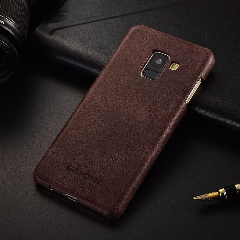 Luxury brand design retro genuine leather back cover case