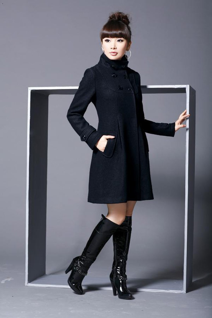 Elegant Coat for Women Pockets Casual Hooded Wool Coat and Jacket Solid Autumn Winter Women Clothes 2018 Plus Size 3XL 4XL 8