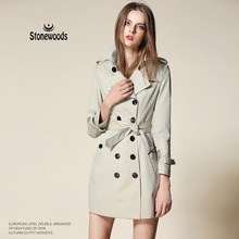 Trench Coat For Women Leisure Duster Coat European British Style Windbreaker Cotton Fashion Plus Size Women's Coats